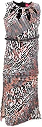 Sheetal Fashion Girls' Lycra & Suede Dress (SF-45_12-13 Years, Black & Cream)