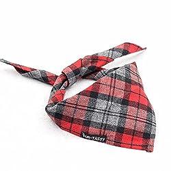 Imported Adjustable Dog Puppy Cat Triangle Neck Bandana Saliva Scarf Neckerchief Red