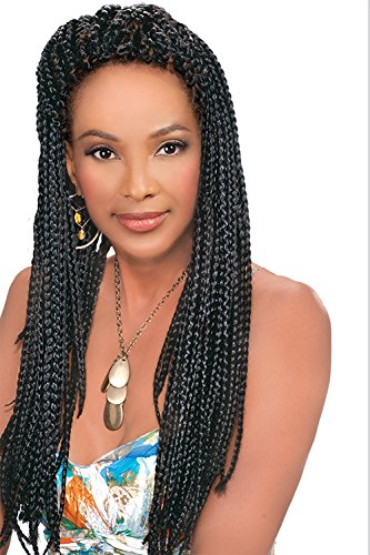 Vivica Fox Jumbo 3X Braid 4 packs Off Black #1B