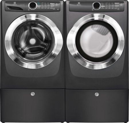 Electrolux White Front Load Laundry Pair with EFLS517STT 27