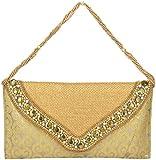 Novelty Bags Women's Clutch (Gold, NOVELTY BAGS_27)
