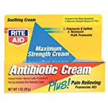 Rite Aid Maximum Strength Antibiotic Cream Plus Pain Relieving Pramoxine HC 1 oz.