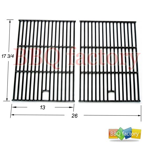 67692 Porcelain Cast Iron Cooking Grid Grate Replacement For Select Gas Grill Models By North American Outdoors, Perfect Flame And Others, Set Of 2