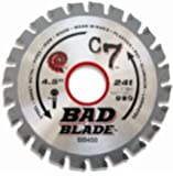KwikTool USA BB450 C7 Bad Blade 4-1/2-Inch 24 Tooth with 1-Inch Arbor And 7/8-Inch, 5/8-Inch