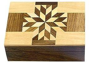 """Wooden Storage Box - Spirit Guide Pattern - 4""""x 6"""""""