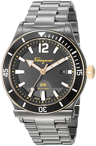 Salvatore-Ferragamo-Mens-1898-Sport-Swiss-Quartz-Stainless-Steel-Casual-Watch-ColorGrey-Model-FF3320016
