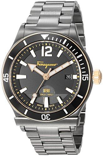 Salvatore-Ferragamo-Mens-1898-Sport-Swiss-Quartz-Stainless-Steel-Casual-Watch-ColorGrey-Model-FF3320016