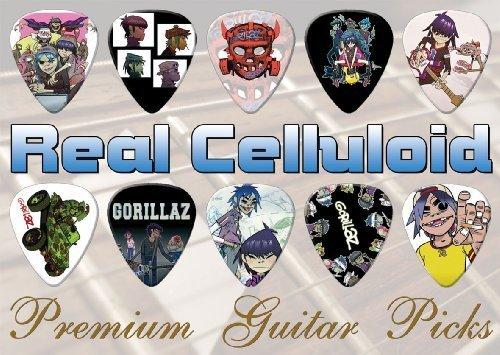 Gorillaz Premium Chitarra Pick Plettro Plettri X 10 (C)
