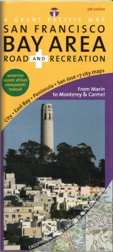 San Francisco Bay Area Road & Recreation Map, 5th Edition