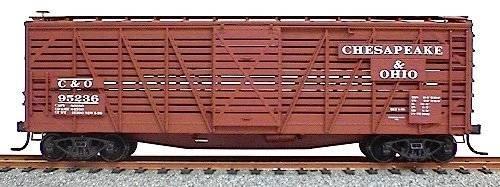 Accurail HO Kit #4710 C&O 40' Wood Stock Car (Plastic Train Kit)