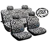 Animal Print Seat Covers Universal Sedan 13pc Front Pair Bench Steering Wheel For Volkswagen VW Beetle