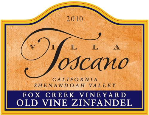 2012 Villa Toscano Winery Fox Creek Vineyard Old Vine California Shenandoah Valley Zinfandel 750 Ml