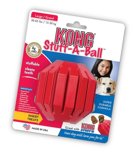 KONG Stuff-A-Ball Dog Toy, Large, Red
