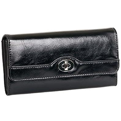 Mundi Black File Master Wallet W/ RFID Blocking Safe Keeper