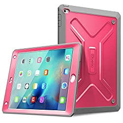 iPad Mini 4 Case - Poetic [Revolution Series] iPad Mini 4th Gen Case - [Heavy Duty] [Dual Layer] Complete Protection Hybrid Case with Built-In Screen Protector for Apple iPad Mini 4 Pink (3 Year Manufacturer Warranty From Poetic)