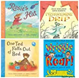 Julia Donaldson Julia Donaldson: 4 books - Picture Books (Rosie's Hat / One Ted Falls Out of Bed / Wriggle and Roar! / Tyrannosaurus Drip £23.96)