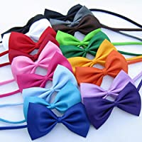 NUOLUX Men Adjustable Bow Ties Wedding Party Essentials 20pcs (Random Color)