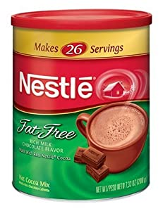Nestle Hot Cocoa Mix, Fat Free, 7.33-Ounce Canisters (Pack of 4)