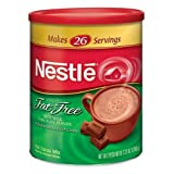 Nestle Hot Cocoa Mix, Fat Free, 7.33-Ounce Canisters (Pack of 4) ~ Nestle