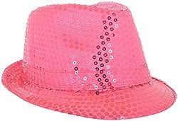 Masti Station Unisex Fedora Party Hat (Fhp07, Pink)