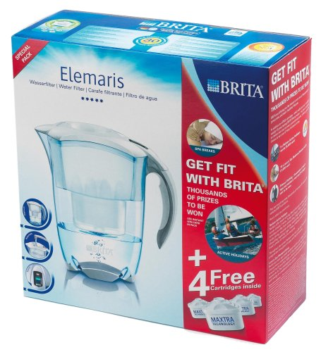 Brita Elemaris Cool White Promo Pack With 4 Maxtra Cartridges