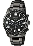 Seiko Men's SSC231 Sport Solar Analog Display Japanese Quartz Black Watch