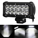 #7: AllExtreme 12 LED Fog Light / Work Light Bar Spot Beam Off Road Driving Lamp 36W CREE