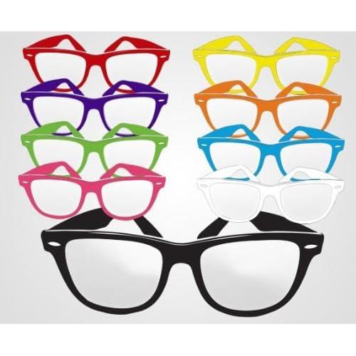 20 Pieces Per Case) Wholesale Lot Nerd Glasses. Non-Imprint Assorted