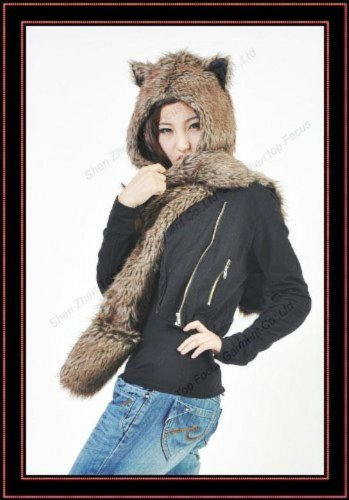 Wolf Full Animal Hood /Animal Hat 3 in 1 Function