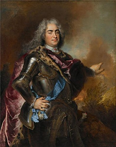 'Nicolas De Largilliere,Augustus The Strong, Elector Of Saxony And King Of Poland,ca.1714-1715' Oil Painting, 10x13 Inch / 25x32 Cm ,printed On High Quality Polyster Canvas ,this Vivid Art Decorative Prints On Canvas Is Perfectly Suitalbe For Bedroom Artwork And Home Decoration And Gifts