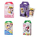 10 Sheets Spring + 10 Sheets Disney Alice in Wonderland + 10 Sheets Pink Dot + 10 Sheets Rabbit Set Fujifilm Instax Photographic Instant Photo Mini Films For Fuji Instant Camera