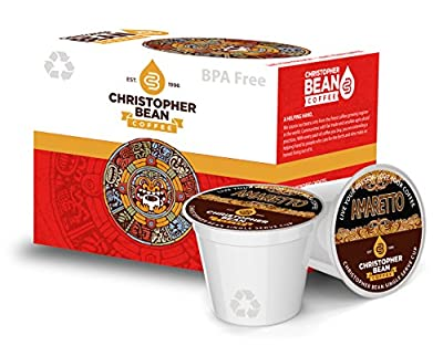 Amaretto Single Cup Coffee Christopher Bean Coffee K Cup, For Keurig Brewers ( 12 Count Box)