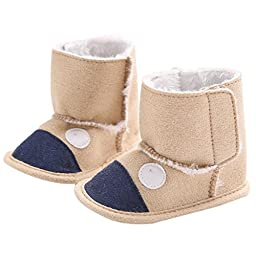Mosunx Baby Snow Boots Soft Crib Shoes Toddler Boots Prewalker (11)