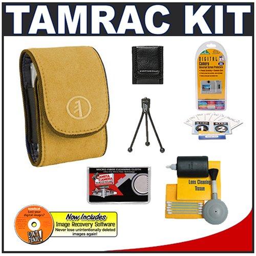 Tamrac 3582 Express 2 Camera Case (Gold) + Accessory Kit for Nikon Coolpix, Canon PowerShot, Pentax Optio, Olympus Stylus, Fuji FinePix, Kodak EasyShare, Casio Exilim, Panasonic Lumix, Samsung and Sony Cyber-Shot Digital Cameras