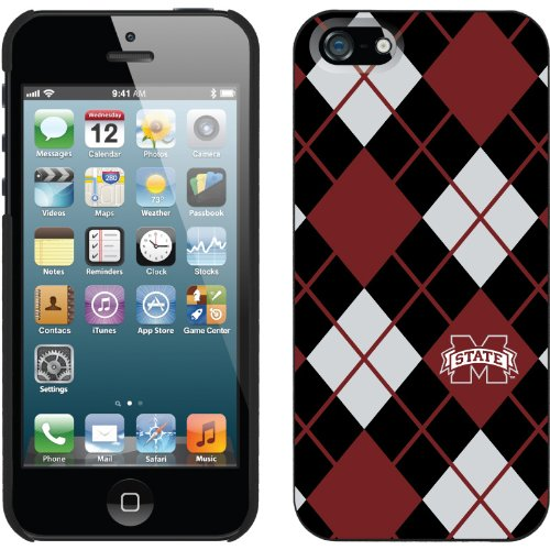 Special Sale Mississippi State - Argyle design on a Black iPhone 5s / 5 Thinshield Snap-On Case by Coveroo