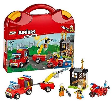 """LEGO - 10740 - Juniors  - Jeu de Construction - La Valisette """"les Pompiers"""""""