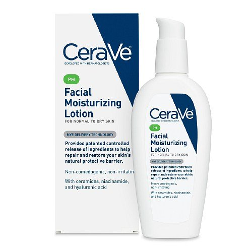 CeraVe Moisturizing Facial Lotion PM 夜间美肤保湿修复乳液 89ml $9.07