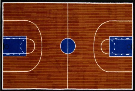 Fun Time Basketball Court Sports Kids Rug Rug Size: 3'3