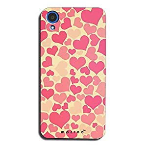 Mozine Pink Love Pattern printed mobile back cover for HTC desire 820