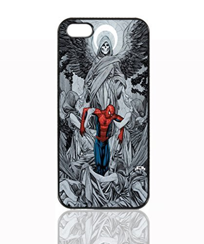 Death and Spiderman Image Unique Diy New Hard Snap On Cover Protector Case For iPhone 5 5S
