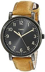 [タイメックス]TIMEX モダンイージーリーダー ブラックサンレイダイアル オイルドレザーベルト T2N677 メンズ 【正規輸入品】