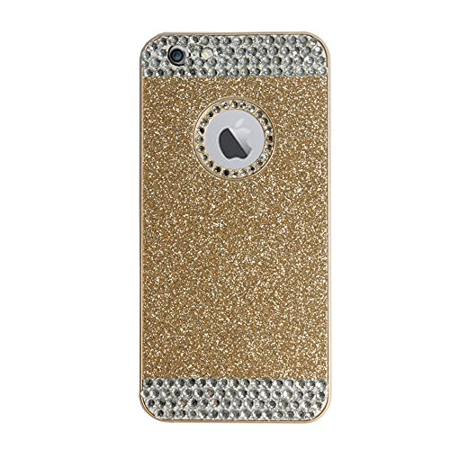 Generic iPhone 6 Plus Case , Luxury Hybrid TPU Hard Shiny Bling Glitter Sparkle With Crystal Rhinestone [Artificial Diamond] Cover Case For iPhone 6 Plus [5.5 Inch] (Gold+Crystal Rhinestone)