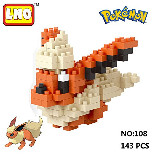 lno-anime-pokemon-flareon-nano-block-diamond-mini-building-toys-pocket-monster