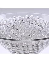 Mveezz Lot de 10 sachets de perles d'eau pour la décoration de vases de mariage Transparent