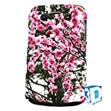 Pink Blossom Floral Blackberry Bold 9700 9780 High Gloss Phone Cover Case Photo Quality - 3D Full Wrap Design
