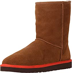 Ugg Ugg Australia Mens Classic Short Leather Boot Chestnut Size 13