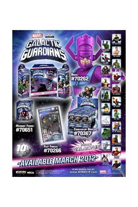 Marvel HeroClix Galactic Guardians ClixBrick 8 Booster Packs 1 SUPER Booster Pack