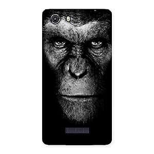Chimp King Black Back Case Cover for Micromax Unite 3