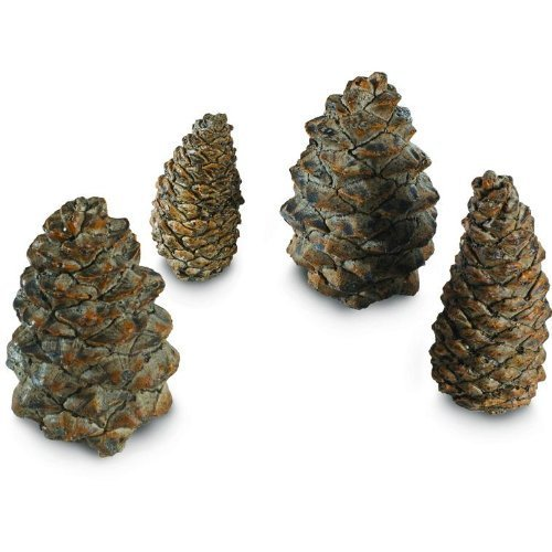 Peterson Gas Logs Decorative Ceramic Pine Cones In Assorted Sizes - Set Of 4 by Peterson Real Fyre (Gas Pine Cones compare prices)