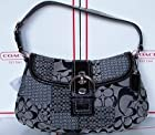 Coach Black/White Soho Signature Patchwork Flap - F12316